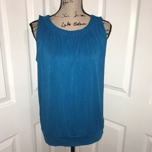 LOFT Tops - LOFT outlet Caribbean blue sleeveless top small